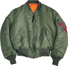 Куртка МА-1 с оранжевой подкладкой