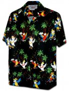 Pacific Legend Men's Hawaiian Shirts 410-3952 Black