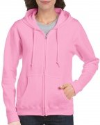 Gildan Women's Heavy Blend Full-Zip Hooded Sweatshirt Light Pink