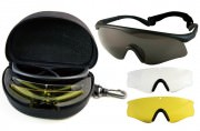 Очки спортивные FireTec™ ANSI Tactical Spectacle Kit - Smoke Clear Yellow Lens