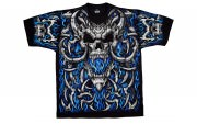 Футболка Liquid Blue - Blue Flame Skulls - LB31758