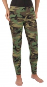 Women's Military Style Leggings Woodland Camo - 3298