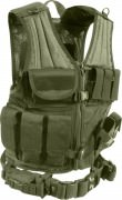 Жилет разгрузочный Rothco M.O.L.L.E Cross Draw Tactical Vest - Olive Drab - 4591