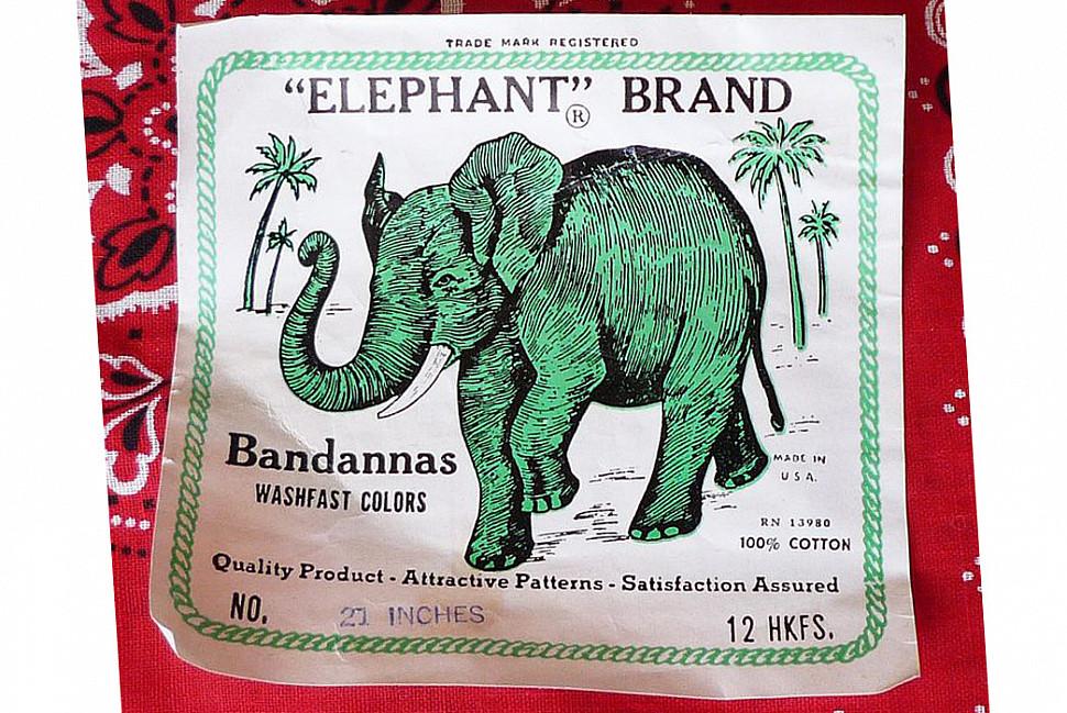 Лейбл бренда David & Catterall Elephant. Иизображение с Waldfriend Enstate.