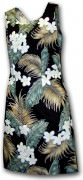Pacific Legend Hawaiian Short Tank Dress - 315-3319 Black