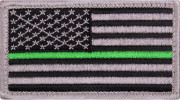 Rothco Thin Green Line US Flag Patch 1893