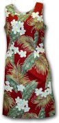 Pacific Legend Hawaiian Short Tank Dress - 315-3319 Maroon