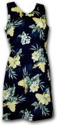 Pacific Legend Hawaiian Short Tank Dress - 315-3359 Black