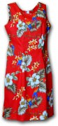 Pacific Legend Hawaiian Short Tank Dress - 315-3373 Red