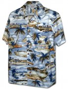 Pacific Legend Men's Hawaiian Shirts 410-3936 Blue