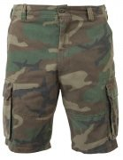 Rothco Vintage Paratrooper Cargo Shorts Woodland Camo 2140