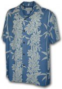 Paradise Motion Men's Rayon Hawaiian Shirts 470-105 Slate