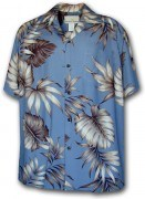 Paradise Motion Men's Rayon Hawaiian Shirts 470-101 Blue
