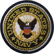 "Нашивка United States Navy Emblem 3"" Round Patch"
