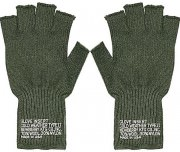 Rothco Fingerless Wool Gloves Olive Drab 8410