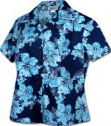 Pacific Legend Simple Hibiscus Hawaiian Shirts - 348-3765 Blue