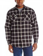 Wrangler Men's Authentics Long Sleeve Quilted Flannel Lined Shirt # Caviar