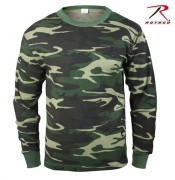 Футболка детская теплая Rothco Kid's Thermal Knit Tops Woodland Camouflage