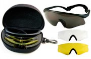 Rothco FireTec™ ANSI Tactical Spectacle Kit - Smoke / Clear / Yellow Lens - 11337
