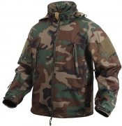 Rothco Special Ops Tactical Soft Shell Jacket Woodland Camo - 9906