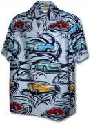 Pacific Legend Matched Front Men's Hawaiian Shirts - 442-3808 Blue