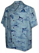 Pacific Legend Matched Front Men's Hawaiian Shirts - 442-3773 Slate