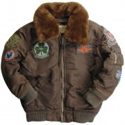 Куртка детская Alpha Industries Boys Maverick Jacket Cocoa