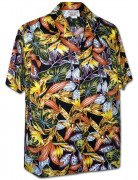 Men's Kahala Garden Men's Hawaiian Shirt 410-3968 Black