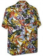 Men's Kahala Garden Men's Hawaiian Shirt 410-3968 Cream