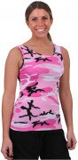 Rothco Women's Stretch Tank Top Pink Camo 4492