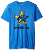 Levis Mens T-Shirt with California Bear Graphic Royal Heather