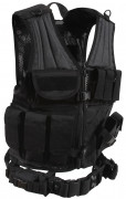 Rothco Cross Draw MOLLE Tactical Vest Black