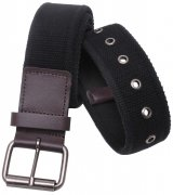 Rothco Vintage Single Prong Web Belt With Leather Accents - 4371