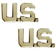Петлицы офицерские Gold Officer Collar Insignia - U.S. Letters