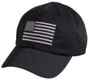 Rothco Tactical Operator Cap With US Flag Black 4364