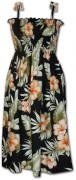 Pacific Legend Hawaiian Tube Dress - 332-3743 Black