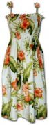 Pacific Legend Hawaiian Tube Dress - 332-3743 White