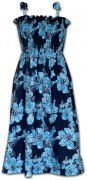Pacific Legend Hawaiian Tube Dress - 332-3765 Blue