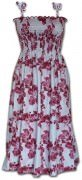 Pacific Legend Hawaiian Tube Dress - 332-3765 Raspberry