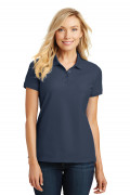 Port Authority Ladies Core Classic Pique Polo River Blue Navy