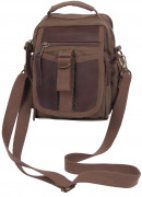 Rothco Canvas & Leather Travel Shoulder Bag Brown 2815