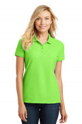 Port Authority Ladies Core Classic Pique Polo Lime