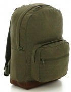 Рюкзак Rothco Vintage Canvas Teardrop Backpack w/ Leather Accents / Olive Drab # 9666
