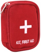 Rothco Military Zipper First Aid Kit Pouch Red - 8378