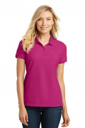 Port Authority Ladies Core Classic Pique Polo Pink Azalea