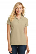 Port Authority Ladies Core Classic Pique Polo Wheat