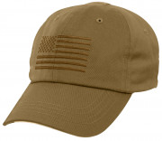 Rothco Tactical Operator Cap With US Flag Coyote 4639