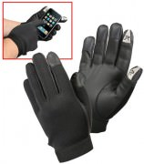 Перчатки Rothco Touch Screen Synthetic Rubber Duty Gloves - Black