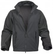Rothco Black Soft Shell Uniform Jacket Black - 9834
