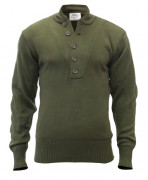 Rothco 5-Button Acrylic Sweater Olive Drab 6368